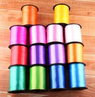 balloon curling ribbon - High quality m mm Balloon Ribbon Roll DIY Gifts Crafts Foil Curling Wedding Birthday Party Decoration Kids Supplies