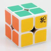Precio de Dayan juguete-Dayan ZhanChi v1 cubo mágico de la velocidad 2x2x2 46m m Cubo del rompecabezas blanco sin etiqueta Cubo Magico rompecabezas clásico Juguetes de la velocidad Envío libre