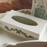 Wholesale Miz Home Cinderella Series Vintage Style Wooden Handmade Tissue Boxes for Living Room Study Room