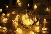 Wholesale Hot M led String Light leds ball AC V Holiday Wedding Patio Decoration Lamp Festival Christmas Tree Lights Outdoor Indoor Lighting