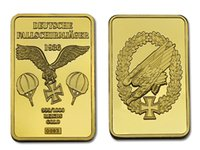 air force souvenirs - World War II Germany Air Force Paratrooper Eagle Commemorative Coin Bulloin
