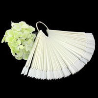 Wholesale Set Fan shaped Natural Clear False Nail Art Tips Sticks Polish Display Display Tools False Nail Art Tips Sticks CJFN02