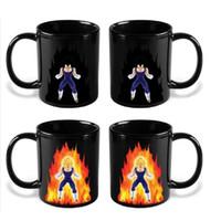 Porcelain ball milk - Dragon Ball Begita Magic Mugs Hot Color Change Drinking Cup Anime Theme Series Mug Heat Reactive Milk Water Cups Funny yr