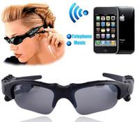 Wholesale Fashion Smart Glasses Sports Stereo Wireless Bluetooth Headset Telephone Polarized Driving Sunglasses mp3 Riding Eyes Glasses