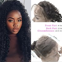 baby hairs hairline - 360 Frontal A Brazilian Virgin Hair Deep Wave Frontal Natural Hairline Lace Frontals With Baby Hair
