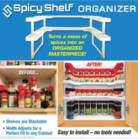Wholesale Spicy Shelf Rack And Stackable Organizer Smart Life Make Up Comestic Storage Rack DHL