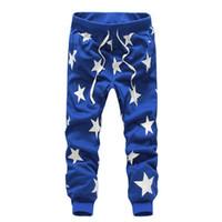 Wholesale 2016 Casual Pants Men Star Printing Fashion Hiphop Dance Pants Bandana Pants Male Clothing Army Tracksuit Trousers Mens Joggers