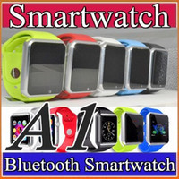 Wholesale 50X A1 Smart Watch Bluetooth DZ09 U8 GT08 Smartwatch Watch Support SIM TF Card Smart Wrist Watches With Silicone Strap Smartphone F BS