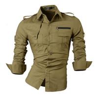 Wholesale new fashion casual slim fit long sleeved men s dress shirts korean styles cotton shirt colors choose