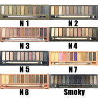 best pallets - Best Quality NUDE Smoky Eyeshadow Pallet Colors Urban Eye Shadow Makeup Palette With Brushes