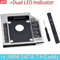 Venta al por mayor 2016 Universal HDD Caddy 12.7mm SATA 3.0 + Indicador LED doble para 2.5