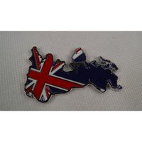 Wholesale pieces New D Metal United Kingdom British Flag Stickers Decals For Car Auto Chrome Car badges Emblems