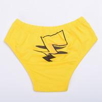1pc sexy mignon Pikachu motif culottes jaune culottes filles underpants sous-vêtements Anime Cosplay Props expédition rapide