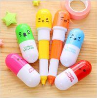 Wholesale 20pcs lovely kawaii pill ballpoint pen Cute learning stationery Student prize vitamin pill novelty ballpen