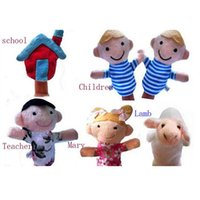 Wholesale 2016 Hot NEW Children s Songs Mary Had a Little Lamb Finger Puppets Educational Toys Stuffed Puppets Set
