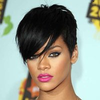 Wholesale dj61 Sythetic Hair Wigs Curly short hair lace wig with hair band for Black Women