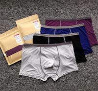 Wholesale Men Boxer Briefs New Fashion Men Comfortable Seamless Shorts Low waist Mens Underwear Healthy Sexy Boxer