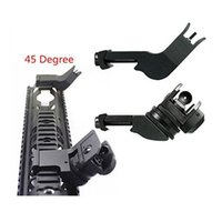 adjustable iron sights - Degree Adjustable Tactical Hunting Flip Up Front Rear Rapid Transition Backup Iron Sight Set High Quality