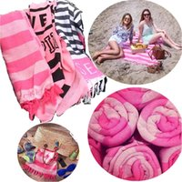 Wholesale Newest VS Blankets Super absorbent cotton bath towel beach towels Blankets Christmas Gifts Carpets