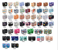 Wholesale 92 styles Positioning Printed Baby Diapers Cloth Pocket Character Diaper Washable Baby Nappy Changing Reusable Baby Diaper Cover Wrap
