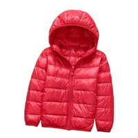 Wholesale Gold Hands New Fashion Children s Down Coats with Hood Lightweigh Outwear Jacket Winter Warm Hooded Coat Kids Clothing