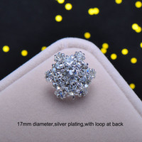 Wholesale J0157 mm rhinestone button with loop at back silver plating arch shape all crystals