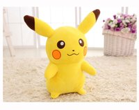 Wholesale High Quality Pikachu Zip pillow Toys Cushion Stuffed Plush Pillow Cartoon Gifts Of Children Animals Toys XJY42
