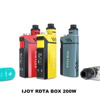 Wholesale Authentic iJoy Limitless RDTA Box Kit W RDTA Box Mod ml juice Tank IMC Interchangeable Building Deck Upgradable powered battery