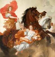 aurora oil - Gérard de Lairesse Apollo and Aurora man girl flowers horses Pure Handpainted Art Oil Painting On Canvas customized size accepted zhonggu