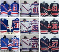 Wholesale New York Rangers Ryan McDonagh Henrik Lundqvist Jersey Blue Home Embroidery Rick Nash Ice Hockey Jerseys Mats Zuccarello