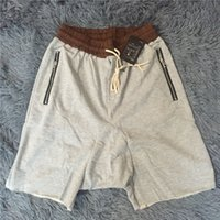 Wholesale new Kanye Justin Bieber Man Shorts Large Pocket Drawstring Harem Shorts Men Trousers Casual Shorts men