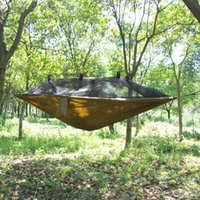 Wholesale Luck Stone Brand Super Light Parachute Hammock Camping Survival Outdoor Flyknit Hunting Leisure Hamac Travel Double Person Hamak
