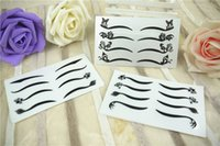 Wholesale P packs Sexy Cat Eyes Sticker Black Eyeliner Double Eyelid Tape Smoky Eye Tattoo Dancer Stickers Stage Makeup
