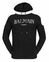 Wholesale Casual Autumn Winter Sports Hoodies - Balmain Causal Men's Hoodies Sweatshirt Autumn Winter Pullover Men Sportwear Mens Coat Jogger Running Sport Brand Designer