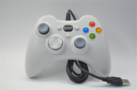Xbox 360 Controlador Gamepad USB con cable Joypad XBOX360 PC joystick Negro Xbox360 controladores de juego para ordenador portátil PC Venta caliente