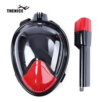 Red Black White Yellow agent sets - Thenice Full Face Snorkeling Diving Masks Scuba Swimming Underwater Set For agent