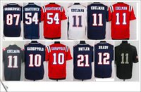 american butler - 2017 New Elite Tom Brady Julian Edelman Jimmy Garoppolo Butler Stitched Embroidery Mens American Football Sports Jerseys