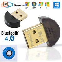 Wholesale Wholsales Mini USB Bluetooth Dongle Adapter V4 Dual Mode Wireless Dongle CSR4 For Laptop PC Win Xp Win7 phone