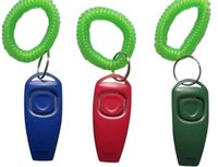 Wholesale 2 in Dog Training Clicker Whistle with Wrist Bands for Clicker Training Dog Clicker can also be used for Cat Training etc