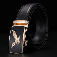 Wholesale Classic Men s Belt eagle Automatic buckle genuine leather brand belts for men business casual belt strap new designer