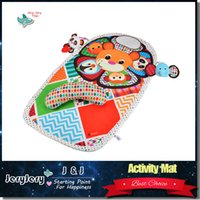 baby activity lion - 0m cm Baby Activity Mat Crawling Mat Play Mat Pad Padded Bolster Large Mirror Teether Animals Lion Panda Elephant Gift