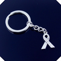 New-fashion-men-30mm-keychain-DIY-metal-holder-chain-vintage-cancer-breast-awareness-ribbon-23-16mm porte-clés