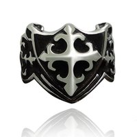 Middle Eastern antique design rings - 6 Design Male Punk Rings Dragon Skull Wolf Cross Claw Pattern Metal Knuckle Antique Ring For Friendship Bijoux Biker Anillos