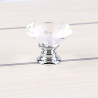 Wholesale Free DHL mm Glass Cabinet Knob Drawer Shiny Polished Chrome Pull Handle Kitchen Door Wardrobe Hardware Used For Chest Bin Dresser E