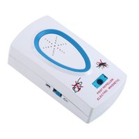 Wholesale EU Plug AC V White Pest Repeller Electronic Ultrasonic Mouse Rat Mosquito Insect Rodent Control
