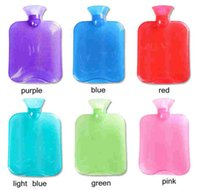 Wholesale Classic Rubber Transparent Hot Water Bottle clear water bag for winter warm fast shipping ml ml ml