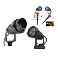 al por mayor reflector al aire libre 12v-Cree LED Spotlight Proyectores al aire libre Iluminación del jardín Luces de inundación blanco rojo verde azul amarillo paisaje lámparas AC85-265V 12V