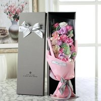 Wholesale Creative valentine s day mother s day rose soap flower bouquet gift birthday gift box