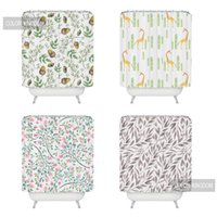 Wholesale comfortable fashion m m bathroom curtain creative soft Waterproof curtain exquisite concise shower curtains