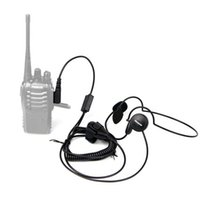 Wholesale New Pin Mic Finger PTT Headset for Kenwood Baofeng uv r H777 s HYT PUXING Walkie Talkie CB Radio